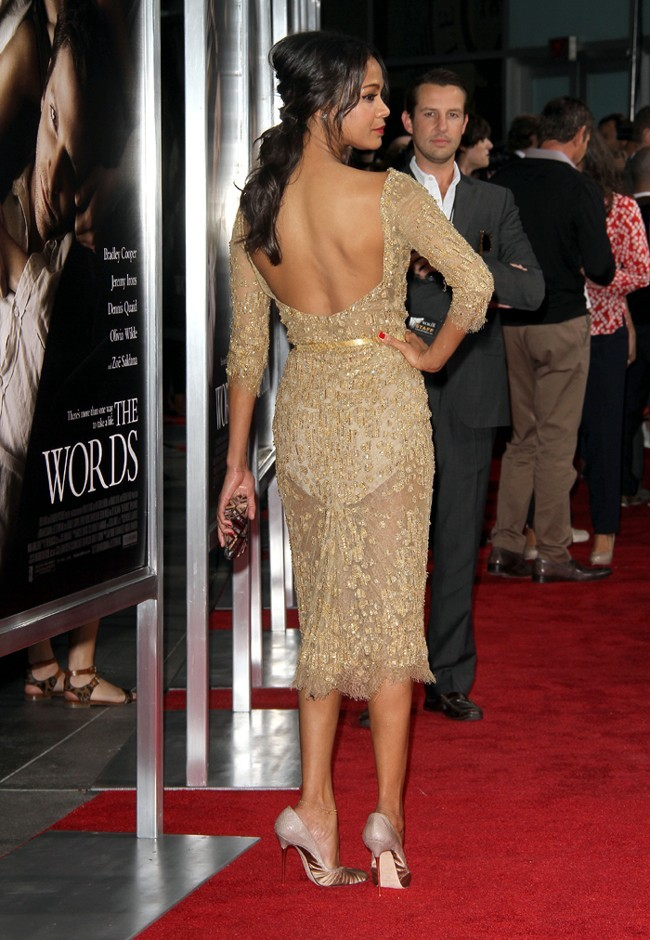 Zoe Saldana à l'avant-première de The Words à Hollywood le 4 septembre 2012
