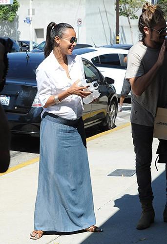 Zoe Saldana à Los Angeles le 14 août 2014