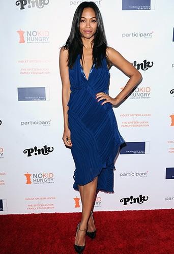 Zoe Saldana à Los Angeles le 29 octobre 2013