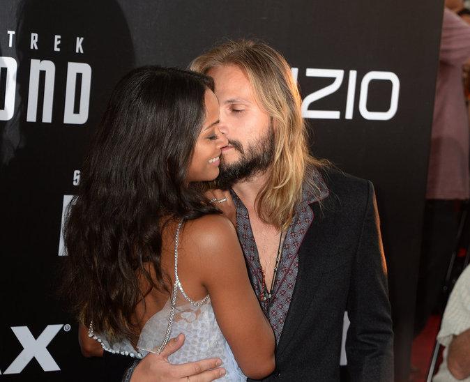 Zoe Saldana et Marco Perego à San Diego le 20 juillet 2016