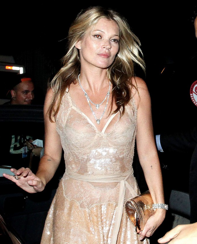 Kate Moss le 10 avril 2015