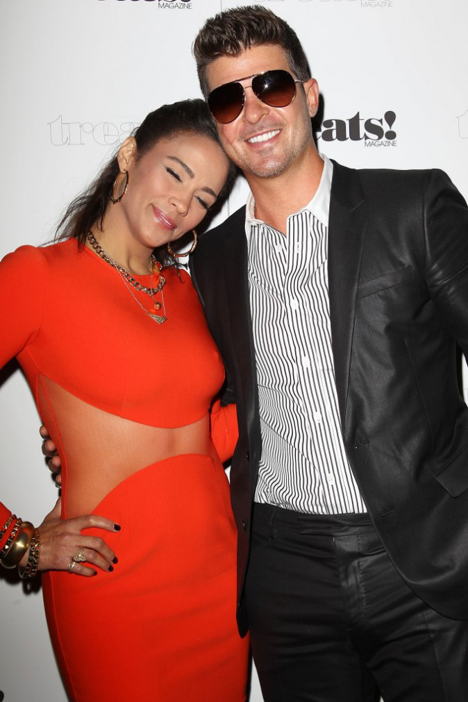 Paula Patton et Robin Thicke, à New York le 4 septembre 2013