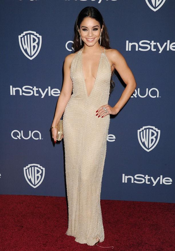 Vanessa Hudgens à l'after-party organisée par la Warner et In Style à Los Angeles le 12 janvier 2014