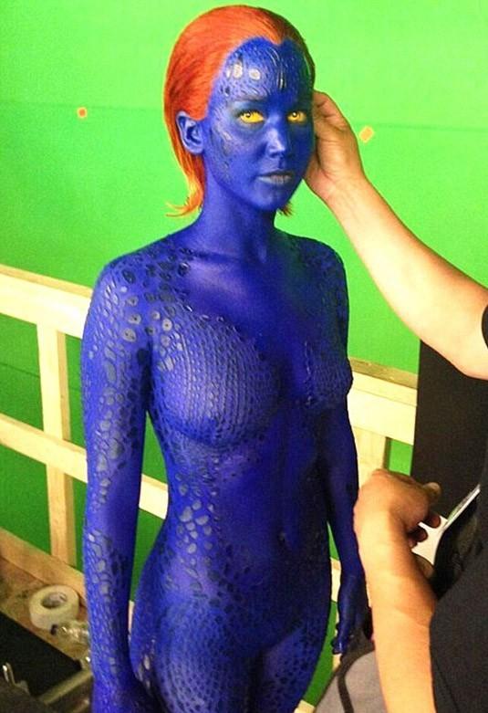 L'actrice qui se cache derrière Mystique est...