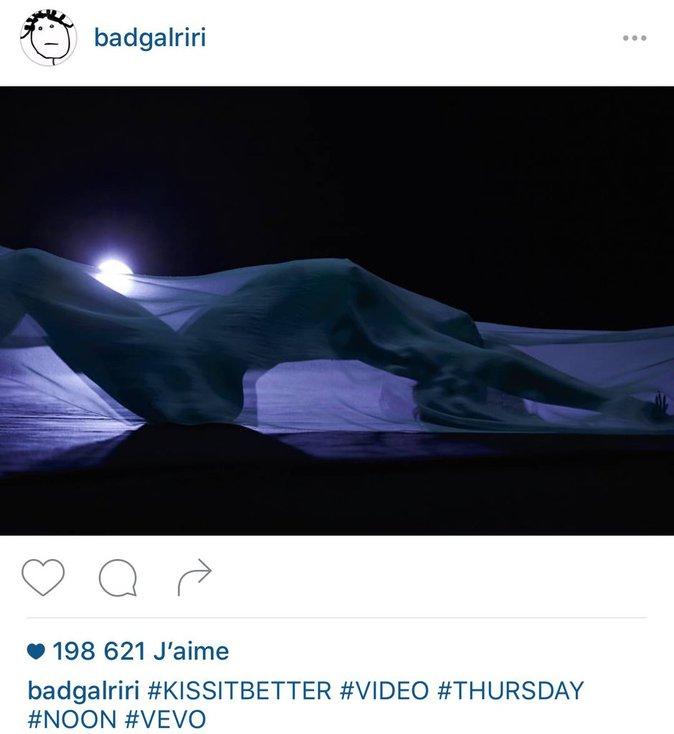 Rihanna: entièrement nue sous son voile