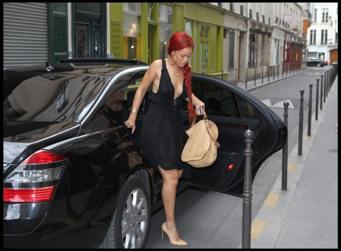 Rihanna à Paris, le 08 mai 2011.