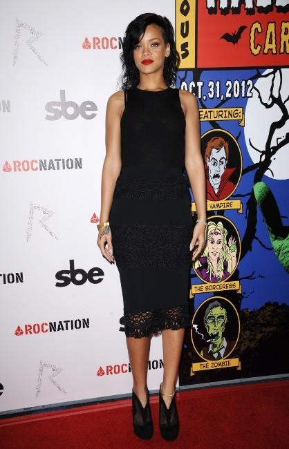 Rihanna, Hollywood, 31 octobre 2012.