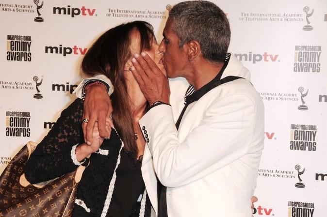 Samy Naceri et sa girlfriend Audrey lors de la soirée MIPTV 2011 Opening Cocktail & Digital Emmy Awards, le 4 avril 2011 à Cannes.