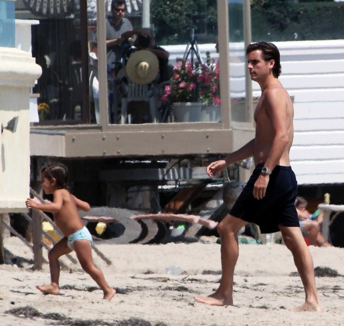 Scott Disick et son fils Mason, Miami, 4 août 2012