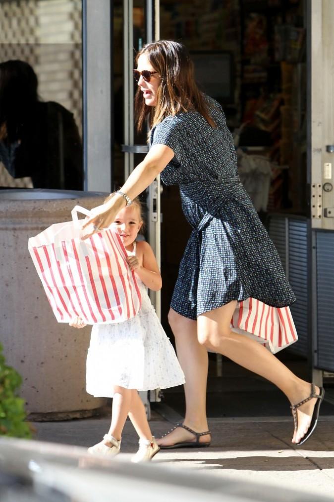 Jennifer Garner et Seraphina le 26 août 2012 à Los Angeles