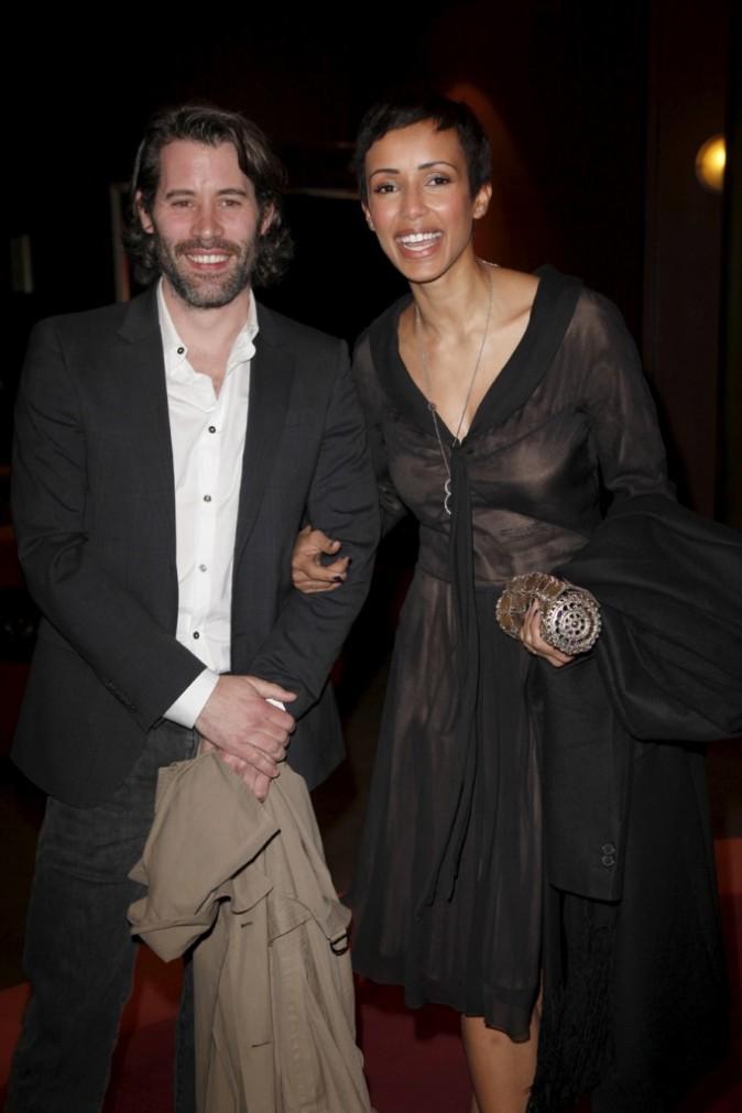 Sonia Rolland et Jalil Lespert lors des 12e Étoiles du cinéma au sein du cinéma Gaumont-Marignan à Paris, le 21 mars 2011.