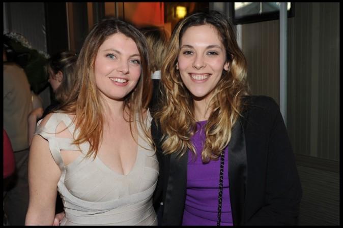 Sophie Guillemin et Alysson Paradis au club L'Arc à Paris, le 21 mars 2011.