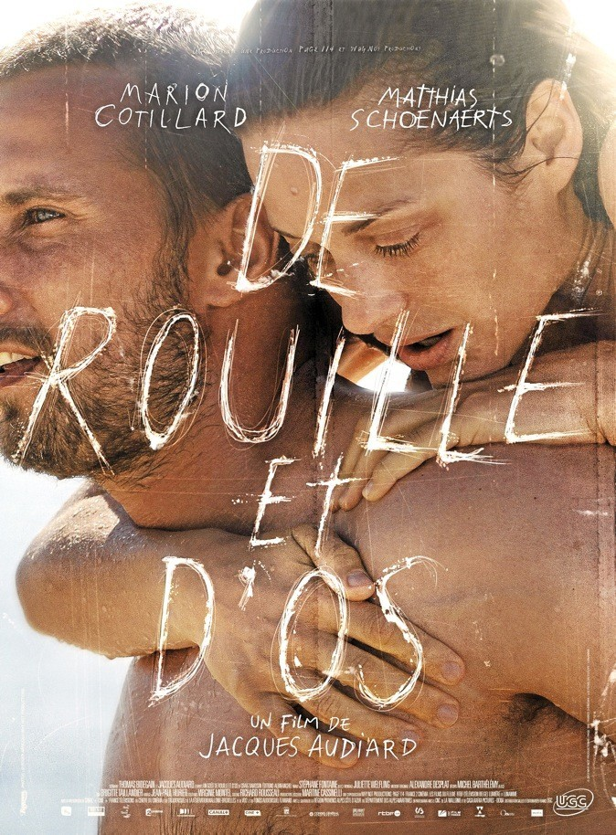 """L'affiche du film """"De rouille et d'os"""" avec Marion Cotillard !"""