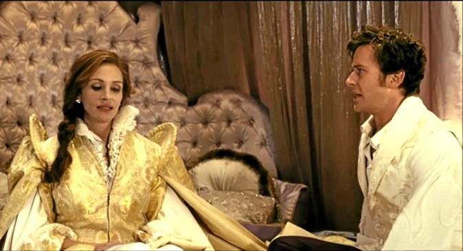 """Scène 3 de """"Blanche neige"""" avec Julia Robert et Lily Collins !"""