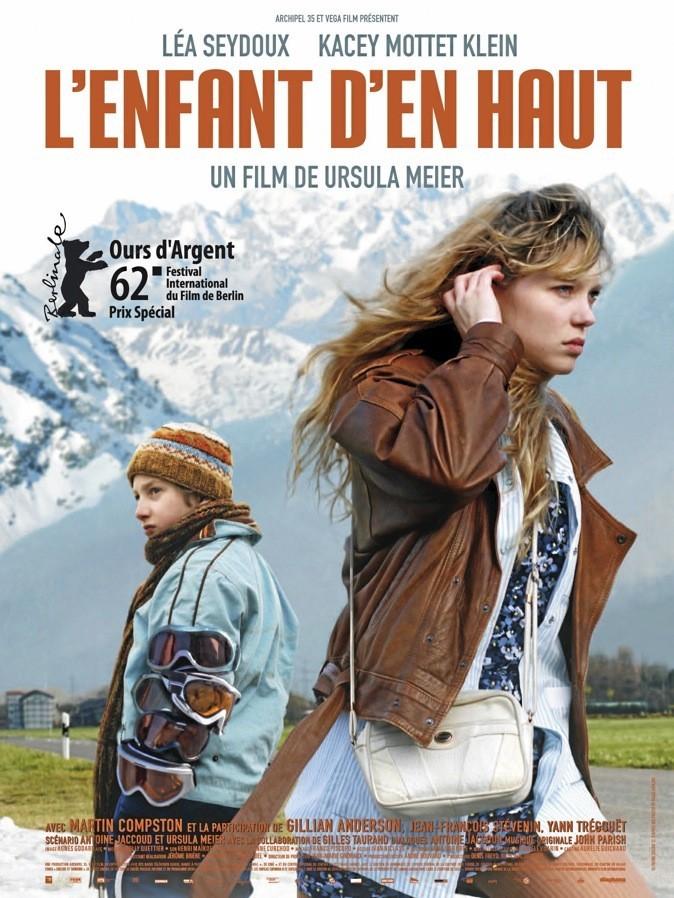 """L'affiche du film """"L'enfant d'en haut"""" avec Léa Seydoux et Kacey Mottet Klein !"""