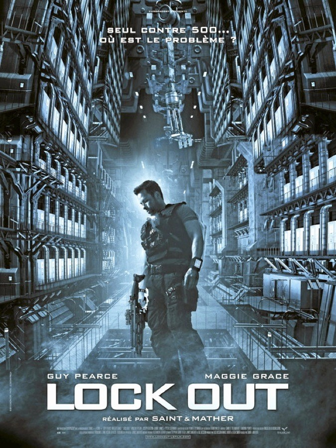 "L'affiche du film ""Lock Out"" avec Guy Pearce et Maggie Grace !"
