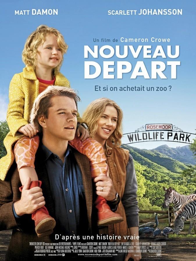 """L'affiche du film """"Nouveau départ"""" avec Scarlett Johansson et Matt Damon !"""