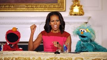 Washington 31/10/2013 : Michelle Obama la meilleure amie des Muppets !