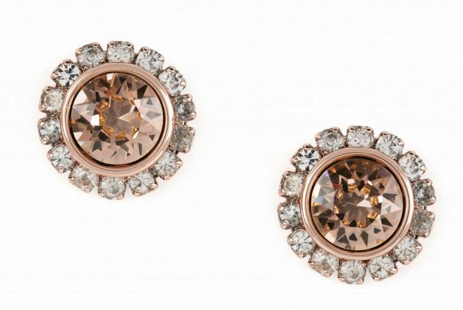 Boucles d'oreilles en cristal et strass, Ted Baker 55 €