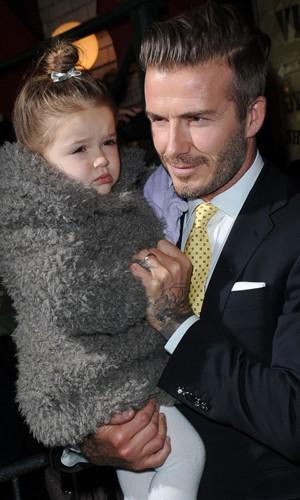 Harper Seven et son papa David Beckham