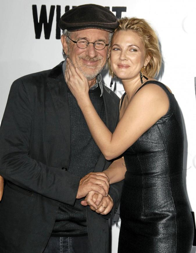 Drew Barrymore et son parrain Steven Spielberg