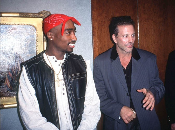 Tupac Shakur et l'acteur Mickey Rourke à New York...
