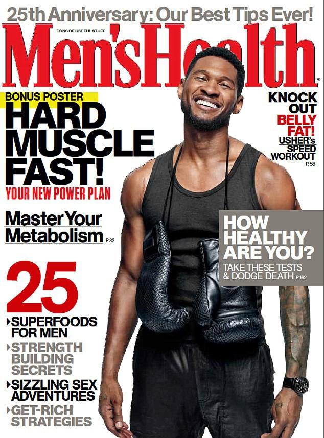 Usher : musclé, tatoué et sexy, il fait la couverture du magazine Men's Health !