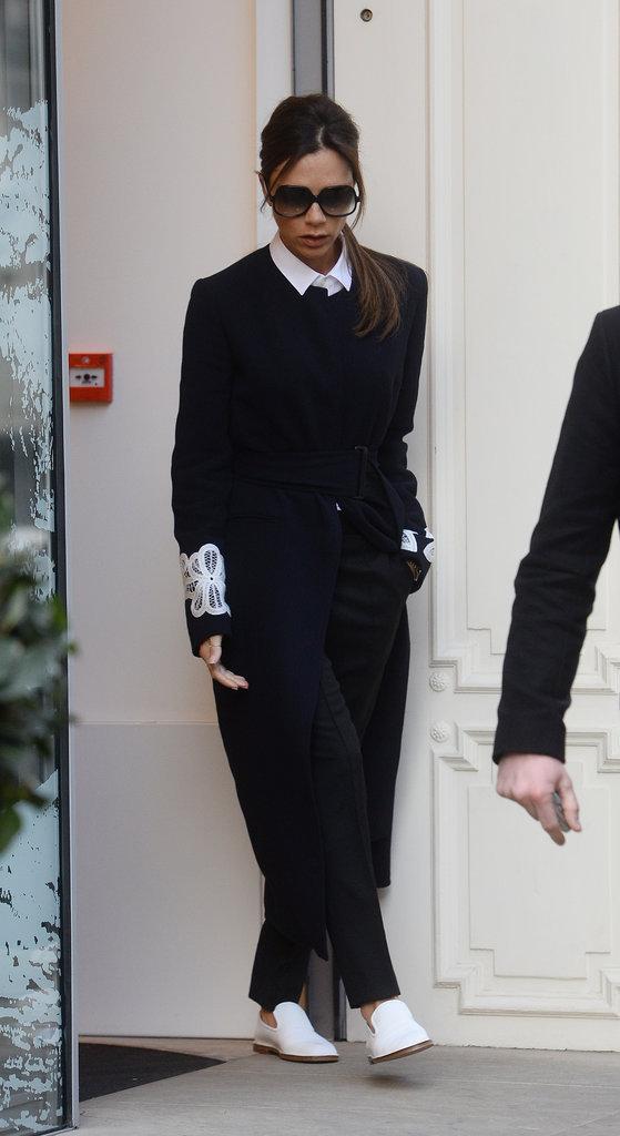 Victoria Beckham, super lookée pour se rendre dans son magasin