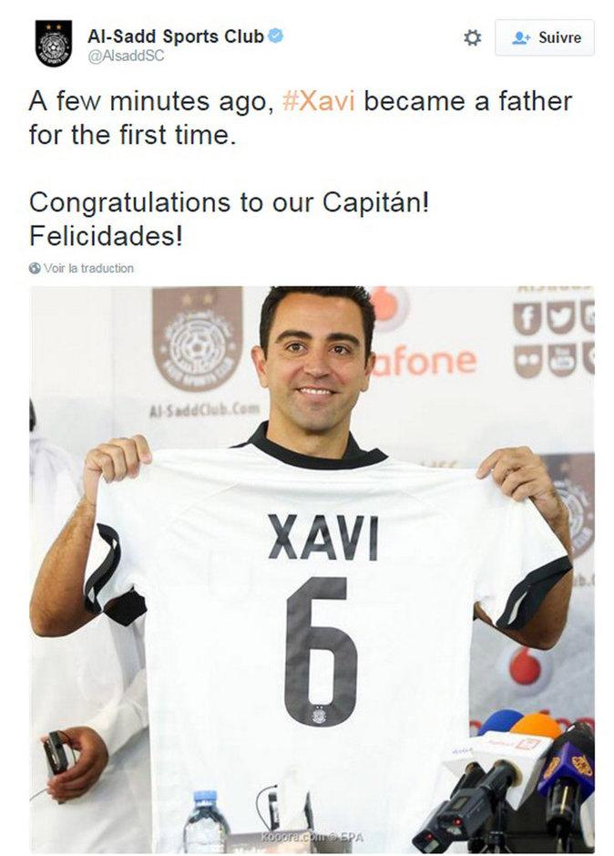 Xavi papa pour la première fois