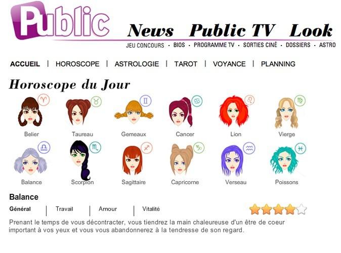 Retrouvez à présent votre horoscope sur Public.fr !
