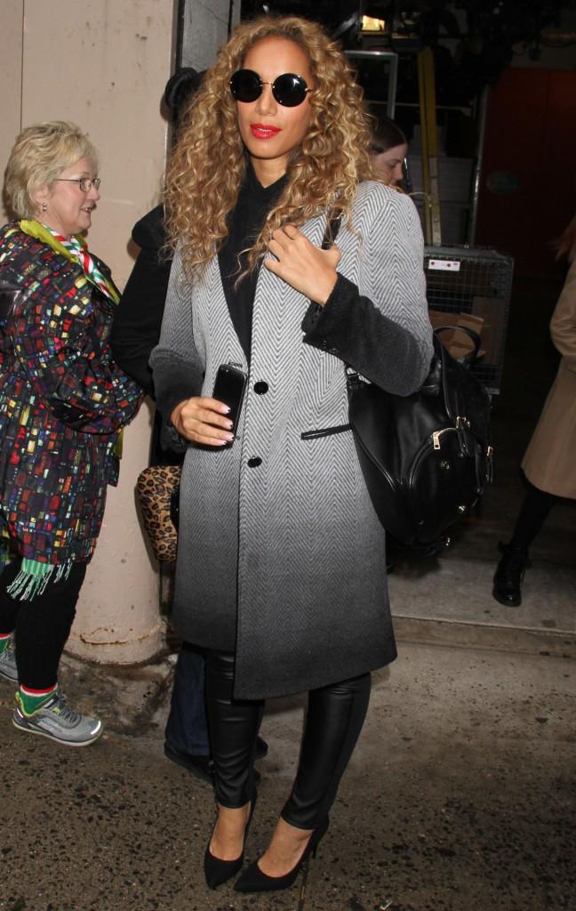 Les frileuses : Leona Lewis à New York !