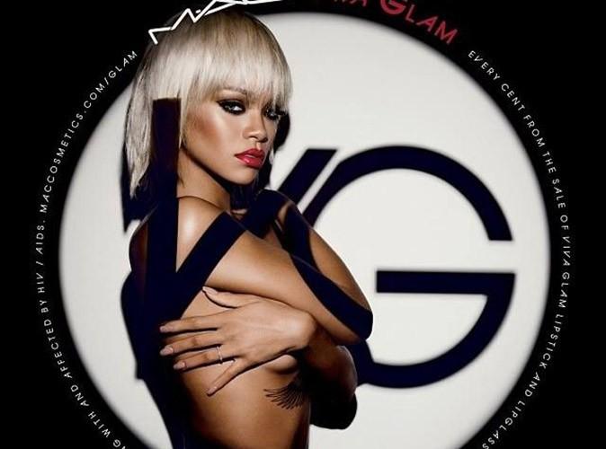 Rihanna : topless et blond platine pour sa nouvelle campagne M.A.C Cosmetics !