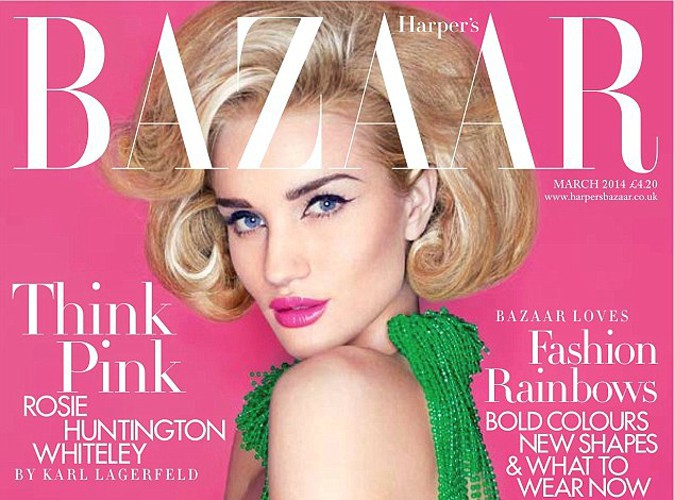 Rosie Huntington-Whiteley : beauté rétro chic en une du Harper's Bazaar UK !