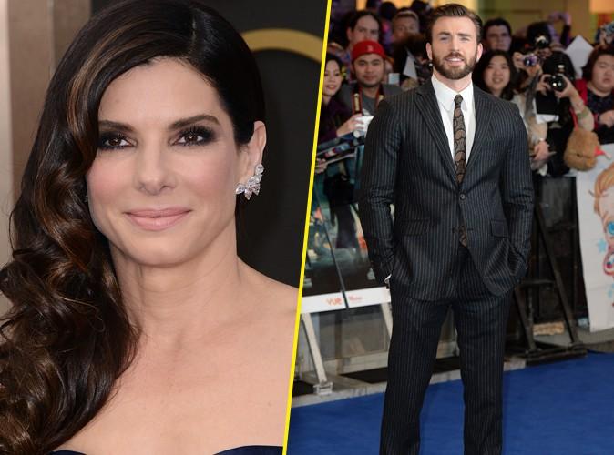 Sandra Bullock : avec humour, l'actrice dément entretenir une relation avec Chris Evans !