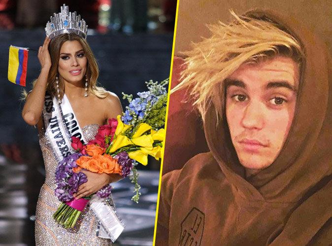 Scandale Miss Univers 2015 : Miss Colombie réagit, Justin Bieber se moque !
