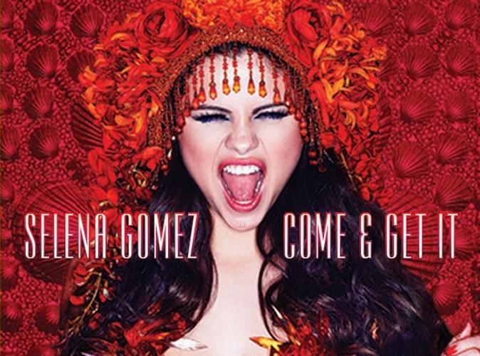 """Selena Gomez : flamboyante et déjantée sur la pochette de son nouveau single """"Come & Get It"""" !"""