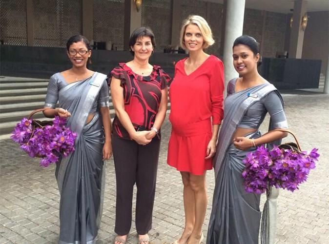 Sylvie Tellier : radieuse, elle affiche son ventre rond au Sri Lanka !