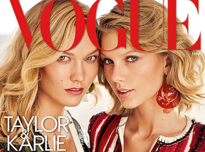 Taylor Swift et Karlie Kloss : les BFF jumelles en Une de Vogue US !