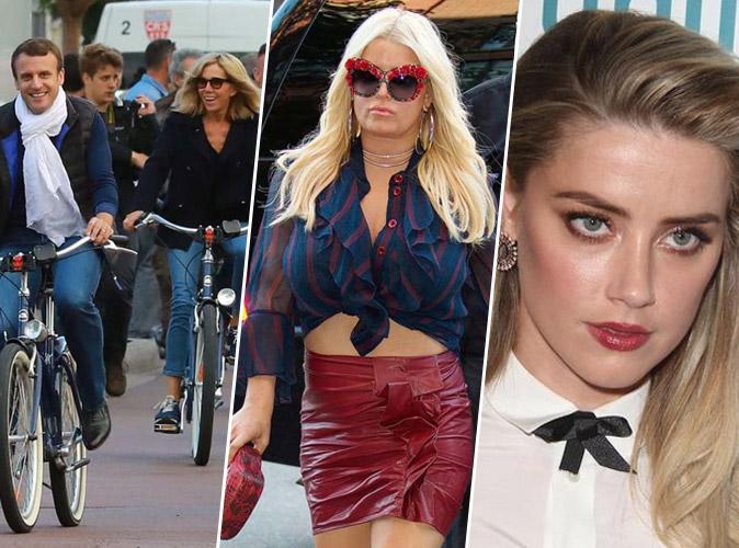 #TopNewsPublic : Les vacances des Macron, Le baby bump de Jessica Simpson, Amber Heard brise le silence...