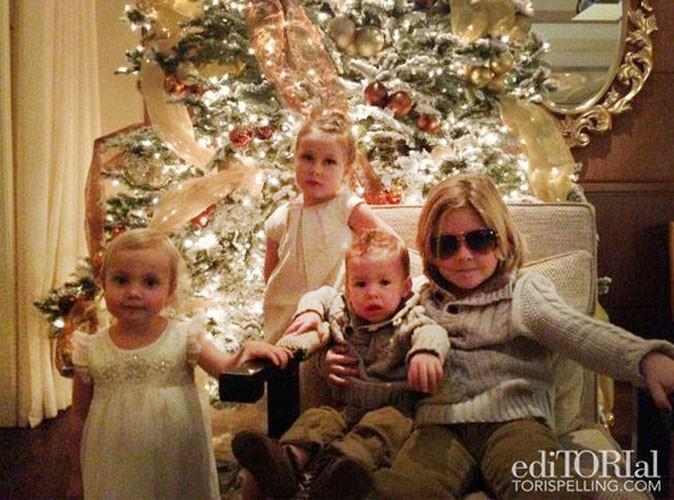 Tori Spelling : elle ignore les rumeurs d'infidélités et se dit bénie avec sa famille...