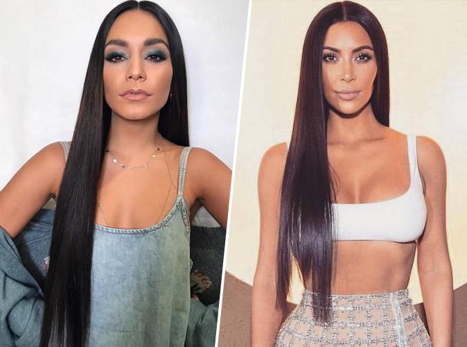 Vanessa Hudgens VS Kim Kardashian : Qui porte le mieux la crinière interminable ?
