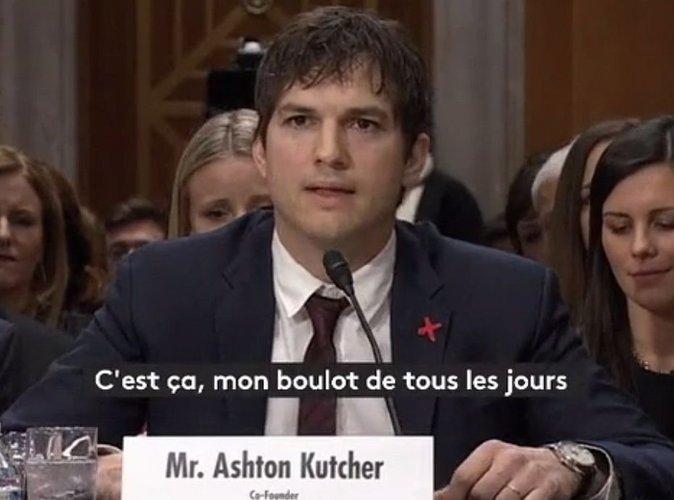 Ashton Kutcher : La voix étranglée, il témoigne contre le tourisme sexuel