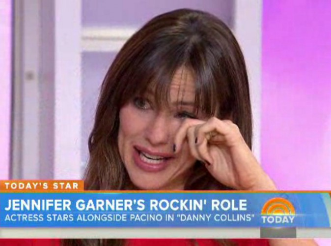 Vidéo : Jennifer Garner fond en larmes à la télévision !