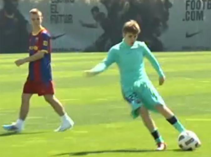 Vidéo : Justin Bieber devient footballeur pour le Barça !