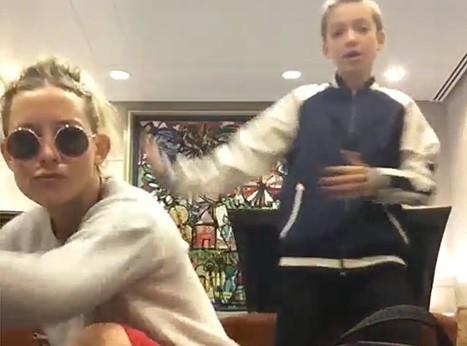 Vidéo : Kate Hudson : Avec son fils Ryder, ils ont le rythme dans la peau !