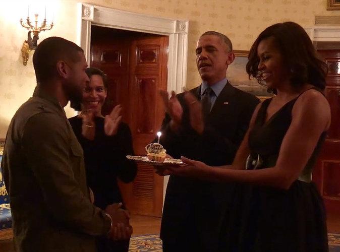 Vidéo : Les Obama ont préparé une belle surprise à Usher pour son anniversaire