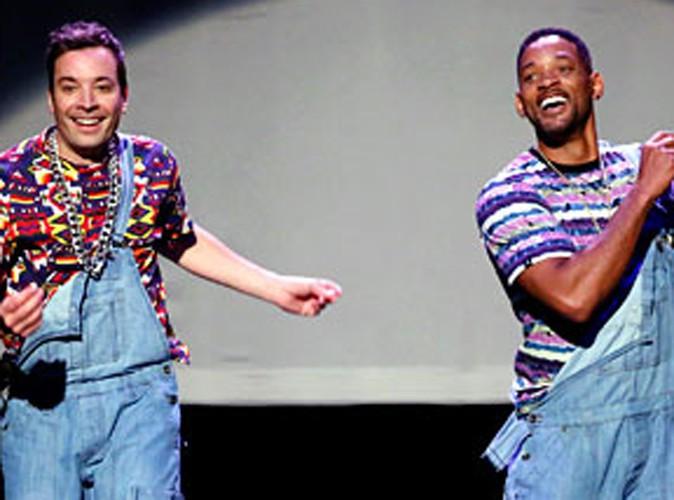 """Vidéo : Will Smith en danseur """"old School"""", aux côtés de Mariah Carey et Kim Kardashian pour les débuts de Jimmy Fallon dans le Tonight Show !"""