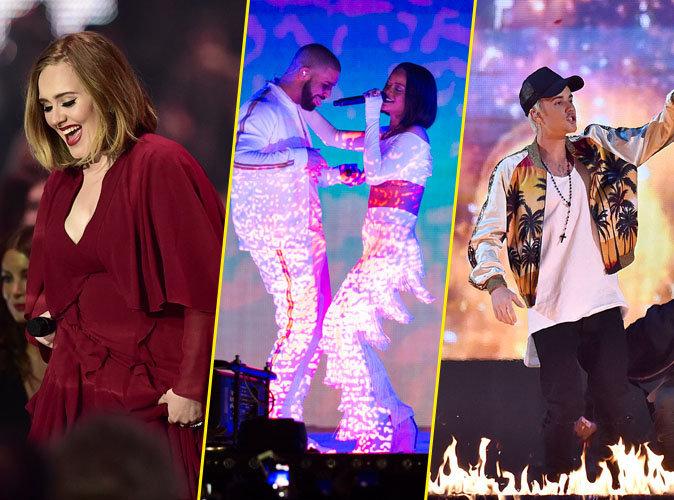 Vidéos : Adele, Rihanna, Justin Bieber… revivez les temps forts des Brit Awards 2016 !