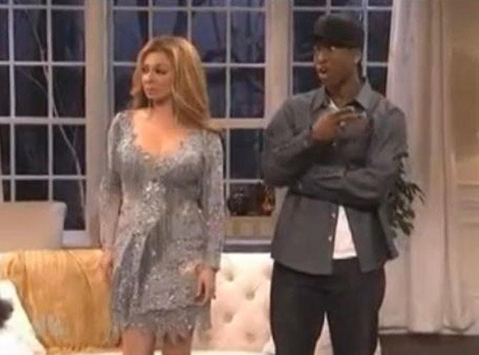 Vidéo : Beyoncé et Jay-Z : parodiés à la télé américaine avec Blue Ivy !