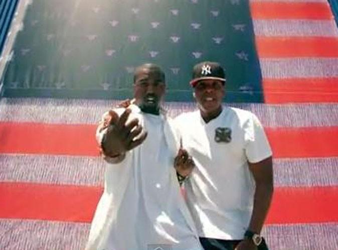 Vidéo : Jay Z et Kanye West : les deux rois du hip hop dévoilent le clip d'Otis !